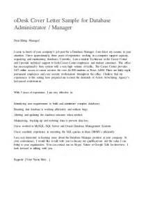 odesk cover letter sample for database administrator or