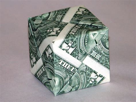 money origami cube beautiful money origami pieces many designs made of
