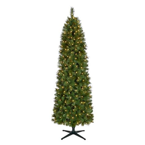 led pencil tree home accents 7 ft pre lit led wesley spruce