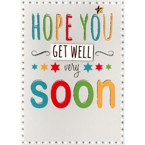 Finished Get Well Soon Card From Ocado