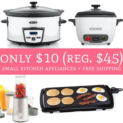 only 10 regular 45 small kitchen appliances free
