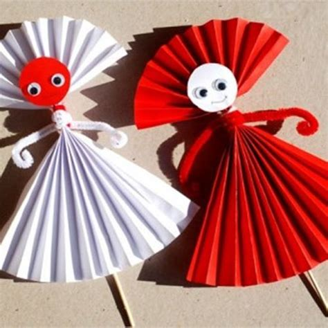 easy paper crafts for children easy paper doll craft for easy make origami