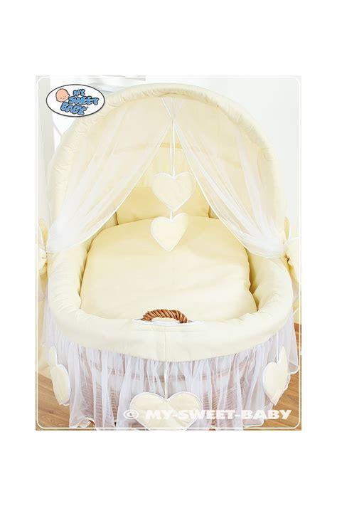 baby moses crib wicker crib moses basket hearts