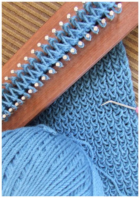 how to use loom knitting fitzbirch crafts loom knitting