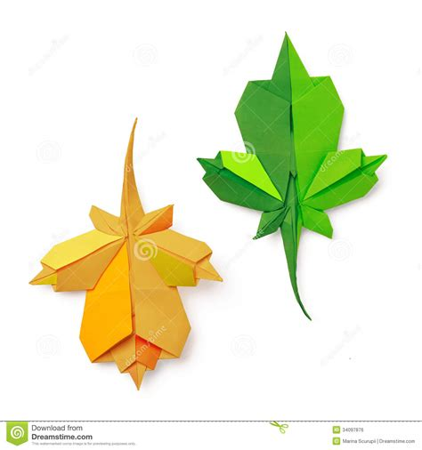 origami maple seed origami leaves stock photo image of yellow autumn