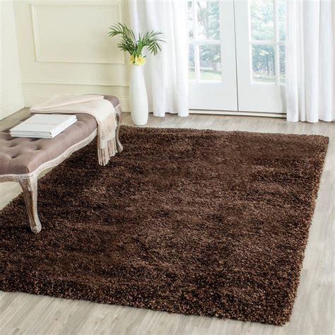 4 ft area rugs safavieh california shag brown 4 ft x 4 ft square area