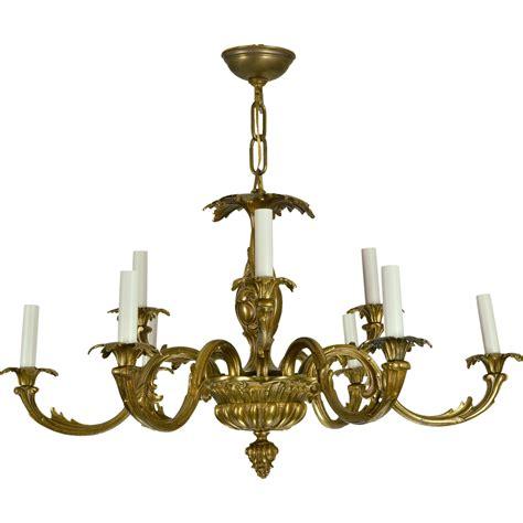 vintage brass chandeliers vintage brass baroque chandelier sold on ruby