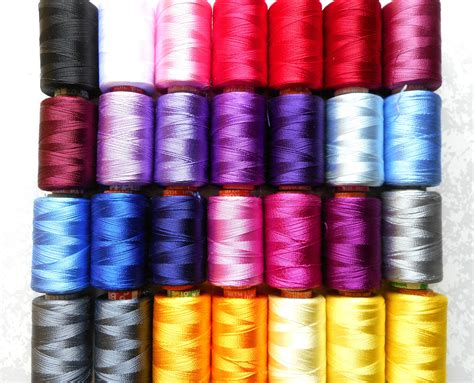 silk thread for beading 20 spools of indian silk thread viscose rayon silk