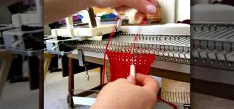knitting machine basics how to crochet a cast with a knitting machine