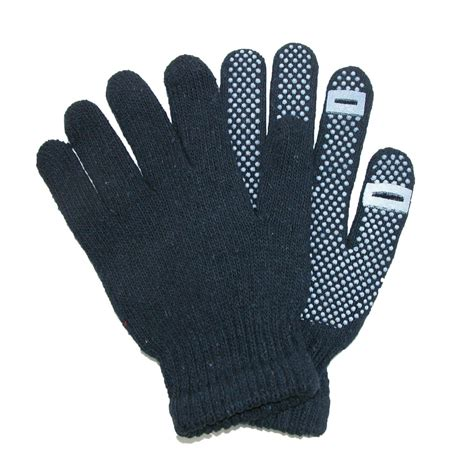 knit gloves grip knit texting winter gloves by ctm 174 gloves cold