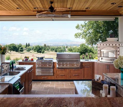 back yard kitchen ideas outdoor kitchen design ideas brown outdoor kitchens