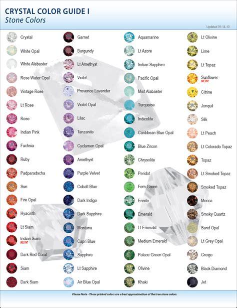 courage color guide swarovski color charts 2010 eureka