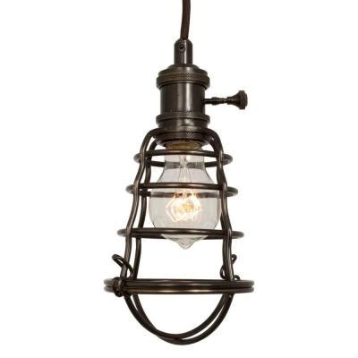 pendant lights at home depot home decorators collection 1 light aged bronze cage