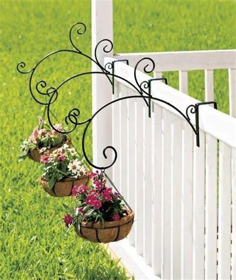 new set of 3 or single porch railing balcony metal plant