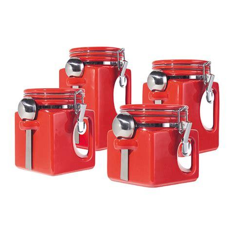 4 kitchen canister sets oggi ez grip 4 set ceramic airtight canister jar