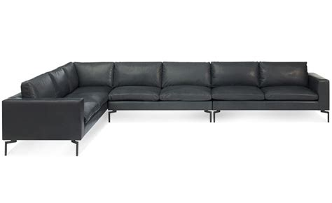 large leather sofas new standard large sectional leather sofa hivemodern