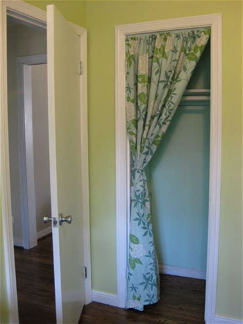 closet door curtain this is how it goes using curtains for closet doors