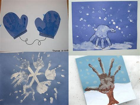 winter craft projects for random handprints a nyc live from new jersey