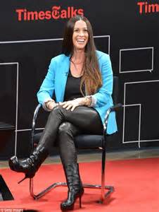 alanis morissette heads to timestalks event with husband