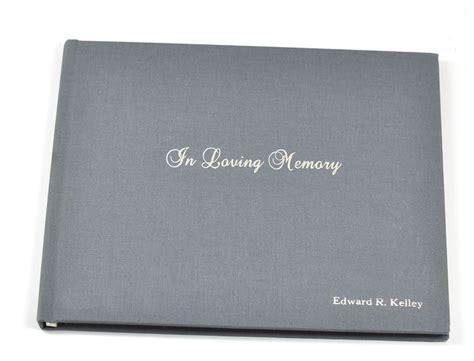 memorial picture book quot in loving memory quot memorial sign in book a treasured