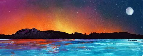spray paint edinburgh edinburgh sunset across the forth scotland an original