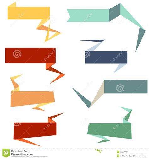 Origami Style Web Banners Royalty Free Stock Image Image