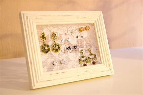 how to make jewelry holder picture frame diy lace picture frame earring holder you want me to buy