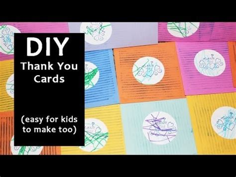 make thank you cards with photos free diy thank you cards easy for to make