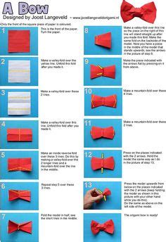 how to make an origami bow tie 1000 ideas about origami bow on origami easy