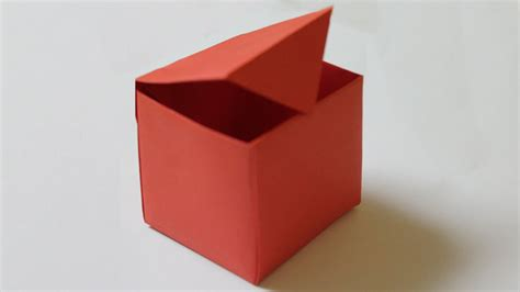 to do with paper how to make a paper box that opens and closes