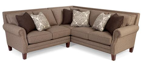 sectional or two sofas two sectional sofa with rolled arms and light brass