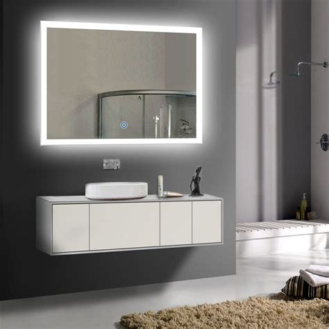 lighted vanity mirrors for bathroom led bathroom wall mirror illuminated lighted vanity mirror