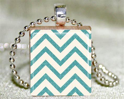zig scrabble chevron zig zag scrabble tile pendant with necklace and
