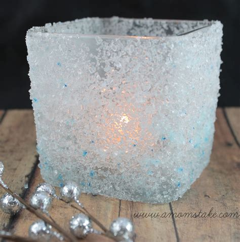 holders to make easy crafts diy frosted candle holder a s take