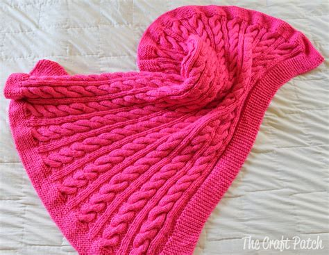 blanket knitting the craft patch cable knit baby blanket