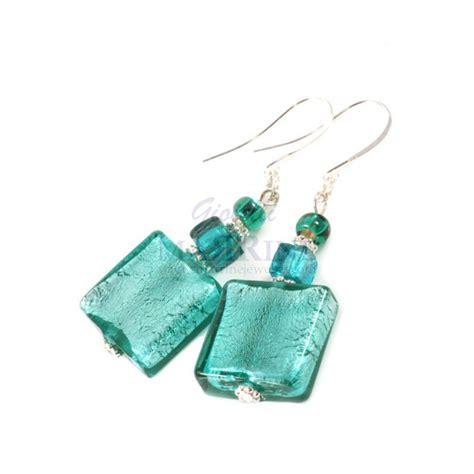 jewelry glass pin glass earrings on