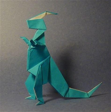 origami parasaurolophus parasaurolophus prehistoric origami the unofficial