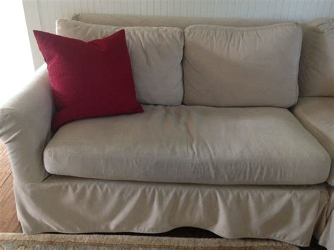 pottery barn slipcovered sofa reviews pottery barn sofa reviews