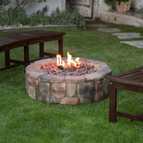 propane outdoor firepit outdoor propane pit backyard patio deck