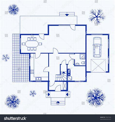 interior design blueprints house blueprint exterior interior vector illustration