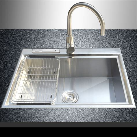 top kitchen sink 28 quot x 18 quot 18 stainless steel single bowl made