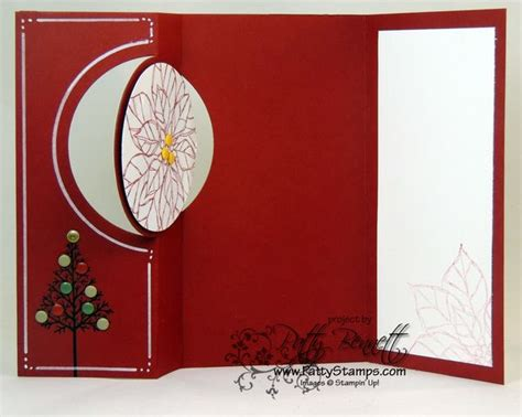 how to make a flip card thinlit circle flip card for patty s sting spot