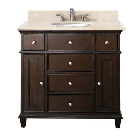 www bathroom vanities 37 inch single bathroom vanity in walnut with a choice of