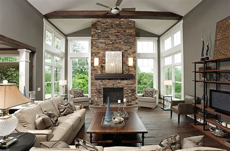 home decor stones fireplaces add warmth and style to the modern home