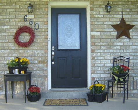 pictures of decorated front porches inexpensive simple front porch ideas from home hinges