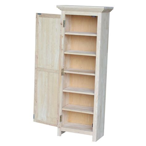 unfinished wood cabinet doors home depot international concepts solid parawood storage cabinet in