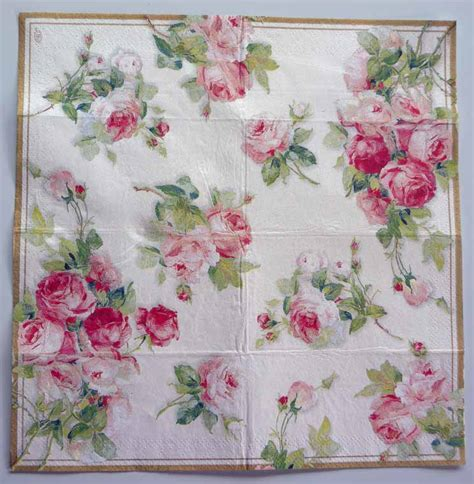 napkin for decoupage decoupage paper napkin roses on white