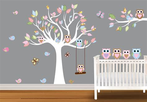 owl wall decals nursery etsy your place to buy and sell all things handmade