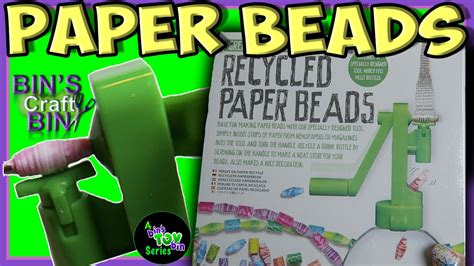 recycled paper bead maker green creativity recycled paper make your own