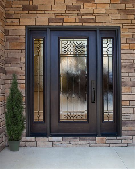 steel doors with glass what are the best entry doors for your home provia